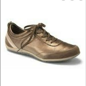 Vionic Bronze Willa Leather Walking Shoes 8.5